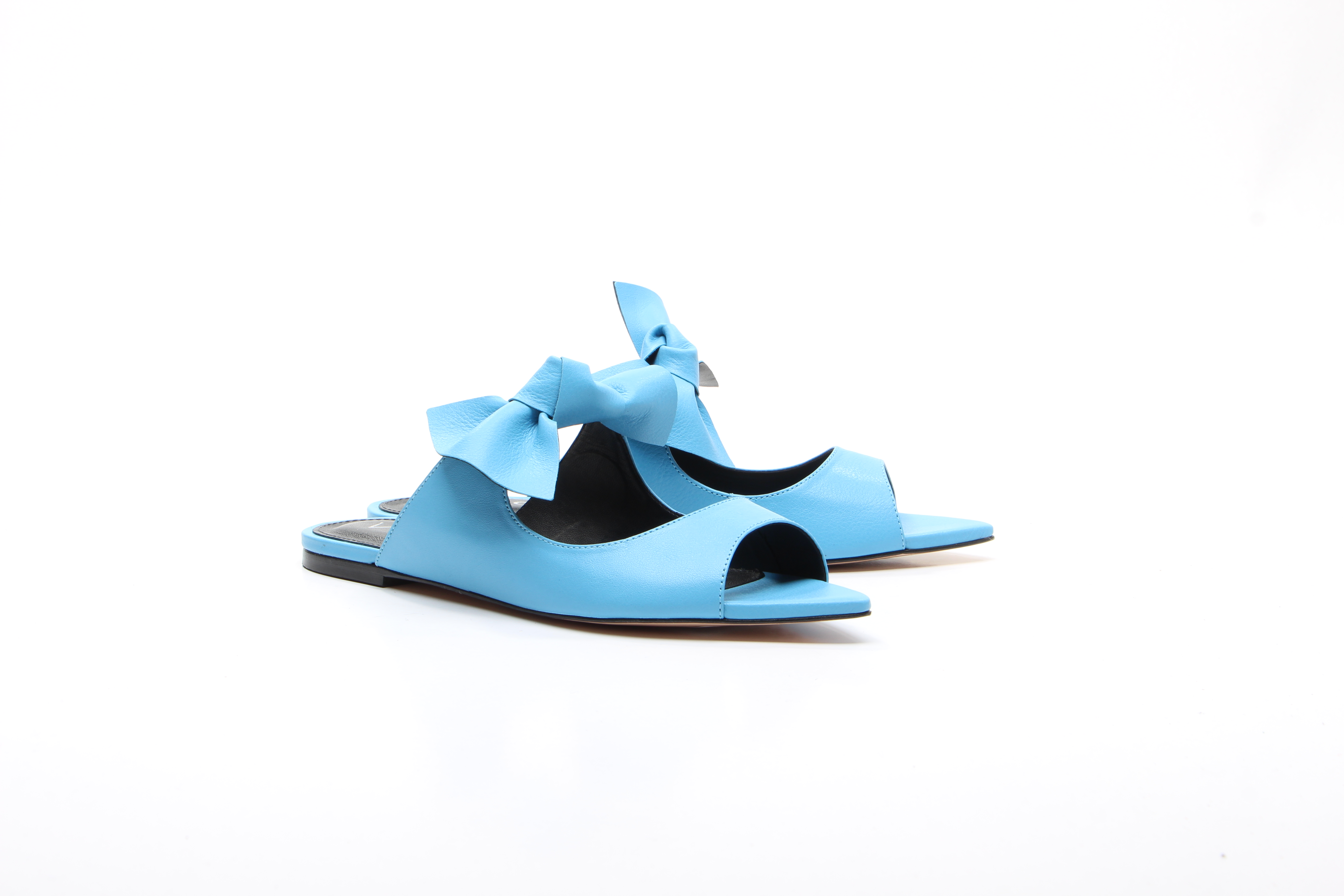 SANDALES NOEUD TURQUOISE VICENZA